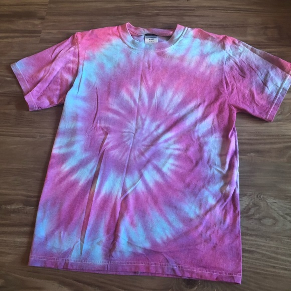 a3fade7a7fa28 Pink purple and blue tie dye Tshirt
